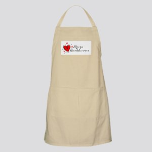 """I Love You"" [Zulu] BBQ Apron"
